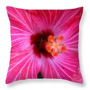 Tropical Flower Time Throw Pillow
