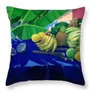 Tropical Fruit Throw Pillow by Lincoln Seligman