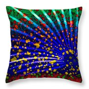 Tropical Fusion Palm Throw Pillow