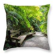 Tropical Garden Throw Pillow