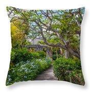 Tropical Garden. Mauritius Throw Pillow