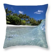 Tropical Glass Throw Pillow
