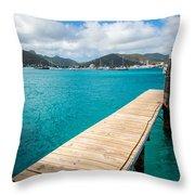Tropical Harbor Throw Pillow