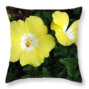 Tropical Hibiscus - Bonaire Wind 02 Throw Pillow