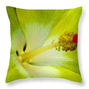 Tropical Hibiscus - Bonaire Wind 03a Throw Pillow