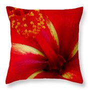 Tropical Hibiscus - Starry Wind 03a Throw Pillow