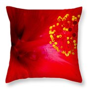 Tropical Hibiscus - Trinidad Wind 02a Throw Pillow