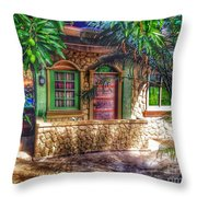 Tropical House Throw Pillow