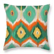 Tropical Ikat II Throw Pillow