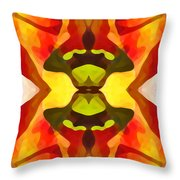 Tropical Leaf Pattern 1 Throw Pillow