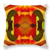 Tropical Leaf Pattern 17 Throw Pillow