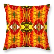 Tropical Leaf Pattern 2 Throw Pillow