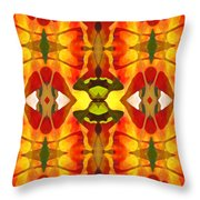 Tropical Leaf Pattern 4 Throw Pillow