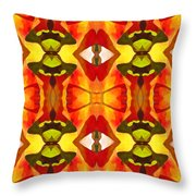 Tropical Leaf Pattern 7 Throw Pillow