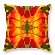 Tropical Leaf Pattern5 Throw Pillow