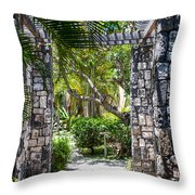 Tropical Light Throw Pillow