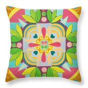 Tropical Mandala Throw Pillow