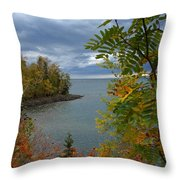 Tropical Mountain Ash Throw Pillow
