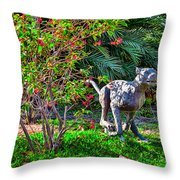 Tropical Mountain Lion Throw Pillow