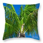 Tropical Palm Portrait Throw Pillow