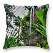 Tropical Paradise Falling Waters Buffalo Botanical Gardens Series   Throw Pillow