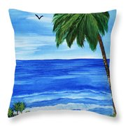 Tropical Path Throw Pillow