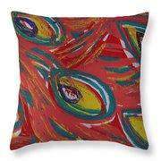 Tropical Peacock Throw Pillow by Jennifer Schwab