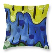 Tropical Rain Throw Pillow
