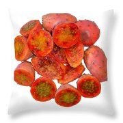 Tropical Red Prickly Pear Fruit  Throw Pillow