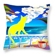 Sea Breeze And Coffee Throw Pillow
