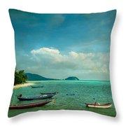 Tropical Seas Throw Pillow