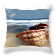 Tropical Shell 2 Throw Pillow
