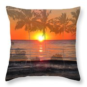 Tropical Spirits - Palm Tree Art By Sharon Cummings Throw Pillow