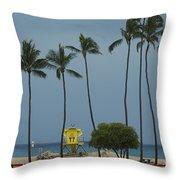 Tropical Storm Flossie Kapukaulua Beach Paia Maui Hawaii 2013 Throw Pillow