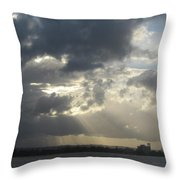 Tropical Stormy Sky Throw Pillow