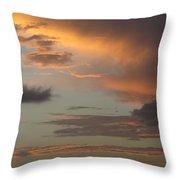 Tropical Sunset Sky Throw Pillow