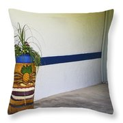 Tropical Tiki Welsome Throw Pillow