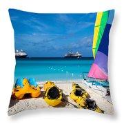 Tropical Toys Throw Pillow
