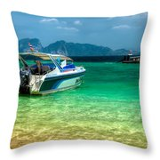 Tropical Travel Throw Pillow