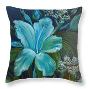Tropical Turquoise Throw Pillow