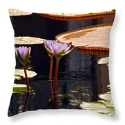 Tropical Waters Floral Charm Throw Pillow