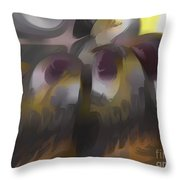 Tropical Wind Pastel Abstract Throw Pillow