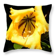 Tropical Yellow Throw Pillow