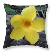 Tropical Yellow Flower Throw Pillow