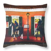 Trot Up Take Out Throw Pillow by Paula Marsh