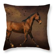 Trotting Into The Night Throw Pillow