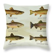 Trout Species Throw Pillow