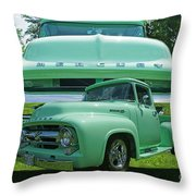 Truck In Grill Throw Pillow