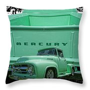 Truck In Tailgate-hdr Throw Pillow