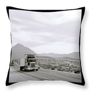 Trucking Across America Throw Pillow
